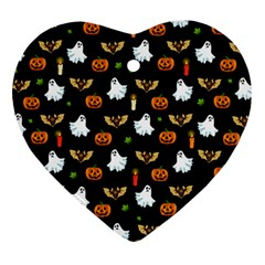 Halloween Pattern Heart Ornament (two Sides)
