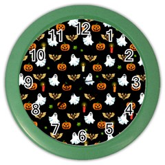 Halloween Pattern Color Wall Clocks