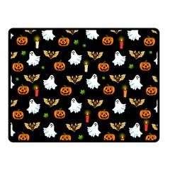 Halloween Pattern Fleece Blanket (small)