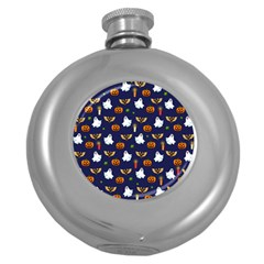 Halloween Pattern Round Hip Flask (5 Oz)