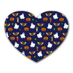 Halloween Pattern Heart Mousepads