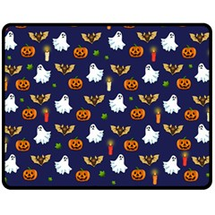 Halloween Pattern Fleece Blanket (medium)