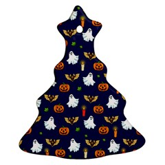 Halloween Pattern Christmas Tree Ornament (two Sides)