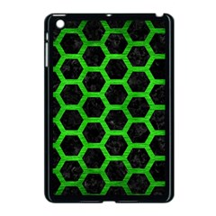 Hexagon2 Black Marble & Green Brushed Metal Apple Ipad Mini Case (black)