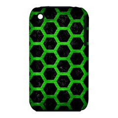 Hexagon2 Black Marble & Green Brushed Metal Iphone 3s/3gs