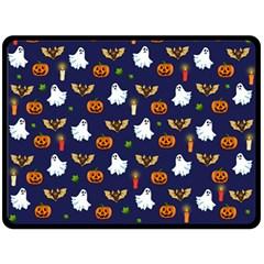 Halloween Pattern Double Sided Fleece Blanket (large)