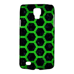 Hexagon2 Black Marble & Green Brushed Metal Galaxy S4 Active