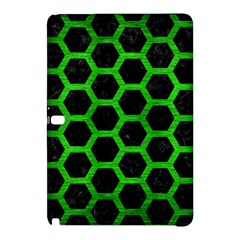 Hexagon2 Black Marble & Green Brushed Metal Samsung Galaxy Tab Pro 10 1 Hardshell Case