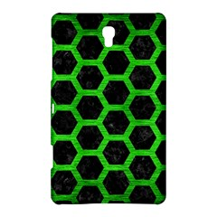 Hexagon2 Black Marble & Green Brushed Metal Samsung Galaxy Tab S (8 4 ) Hardshell Case