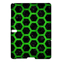 Hexagon2 Black Marble & Green Brushed Metal Samsung Galaxy Tab S (10 5 ) Hardshell Case