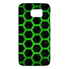 Hexagon2 Black Marble & Green Brushed Metal Galaxy S6