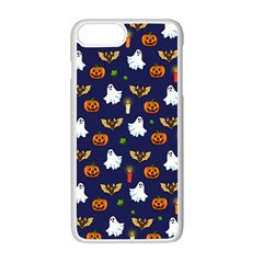 Halloween Pattern Apple Iphone 7 Plus White Seamless Case