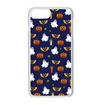 Halloween pattern Apple iPhone 7 Plus White Seamless Case Front