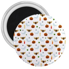 Halloween Pattern 3  Magnets
