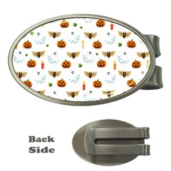 Halloween Pattern Money Clips (oval)
