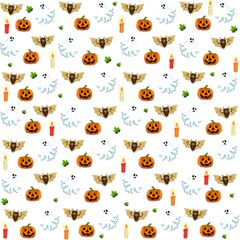 Halloween Pattern Magic Photo Cubes