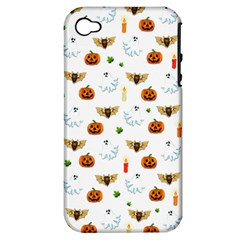 Halloween Pattern Apple Iphone 4/4s Hardshell Case (pc+silicone)