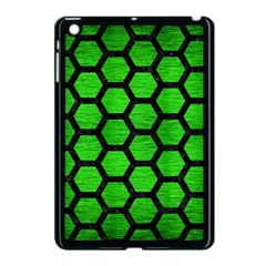 Hexagon2 Black Marble & Green Brushed Metal (r) Apple Ipad Mini Case (black)