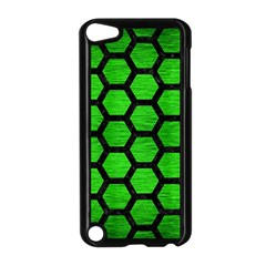 Hexagon2 Black Marble & Green Brushed Metal (r) Apple Ipod Touch 5 Case (black)