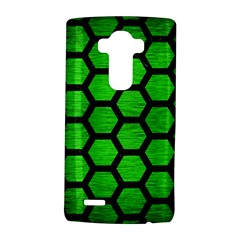 Hexagon2 Black Marble & Green Brushed Metal (r) Lg G4 Hardshell Case