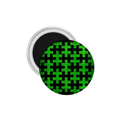 Puzzle1 Black Marble & Green Brushed Metal 1 75  Magnets