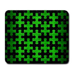 Puzzle1 Black Marble & Green Brushed Metal Large Mousepads
