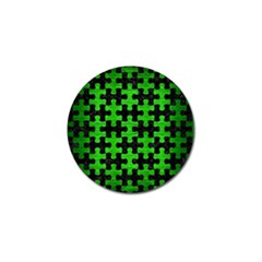 Puzzle1 Black Marble & Green Brushed Metal Golf Ball Marker (10 Pack)