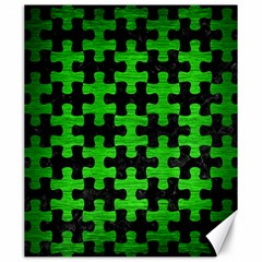 Puzzle1 Black Marble & Green Brushed Metal Canvas 20  X 24