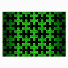 Puzzle1 Black Marble & Green Brushed Metal Large Glasses Cloth