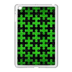 Puzzle1 Black Marble & Green Brushed Metal Apple Ipad Mini Case (white)