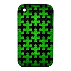 Puzzle1 Black Marble & Green Brushed Metal Iphone 3s/3gs