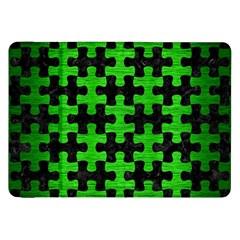 Puzzle1 Black Marble & Green Brushed Metal Samsung Galaxy Tab 8 9  P7300 Flip Case