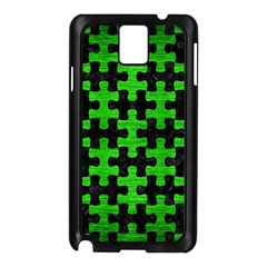 Puzzle1 Black Marble & Green Brushed Metal Samsung Galaxy Note 3 N9005 Case (black)