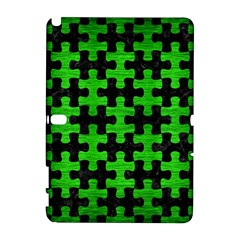 Puzzle1 Black Marble & Green Brushed Metal Galaxy Note 1