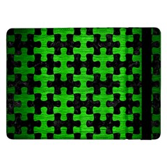 Puzzle1 Black Marble & Green Brushed Metal Samsung Galaxy Tab Pro 12 2  Flip Case