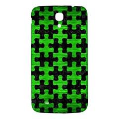 Puzzle1 Black Marble & Green Brushed Metal Samsung Galaxy Mega I9200 Hardshell Back Case