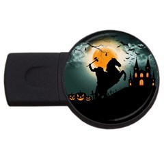 Headless Horseman Usb Flash Drive Round (4 Gb)