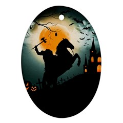 Headless Horseman Oval Ornament (two Sides)