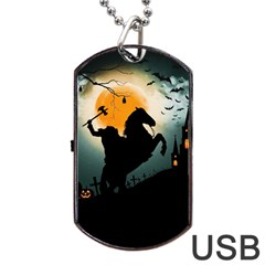 Headless Horseman Dog Tag Usb Flash (two Sides)
