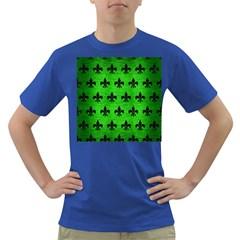 Royal1 Black Marble & Green Brushed Metal Dark T Shirt