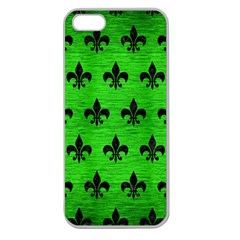 Royal1 Black Marble & Green Brushed Metal Apple Seamless Iphone 5 Case (clear)