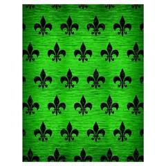 Royal1 Black Marble & Green Brushed Metal Drawstring Bag (large)