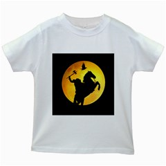Headless Horseman Kids White T Shirts
