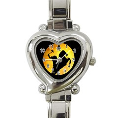 Headless Horseman Heart Italian Charm Watch