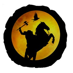 Headless Horseman Large 18  Premium Round Cushions