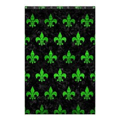 Royal1 Black Marble & Green Brushed Metal (r) Shower Curtain 48  X 72  (small)