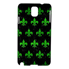 Royal1 Black Marble & Green Brushed Metal (r) Samsung Galaxy Note 3 N9005 Hardshell Case