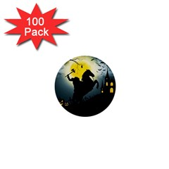 Headless Horseman 1  Mini Buttons (100 Pack)