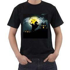 Headless Horseman Men s T Shirt (black) (two Sided)