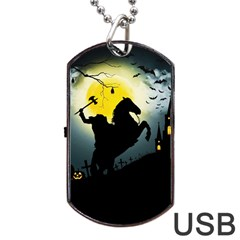 Headless Horseman Dog Tag Usb Flash (one Side)